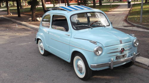 1960 Fiat 600 trasformabile convertible For Sale (picture 1 of 6)