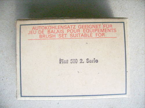 Dynamo Brush Set Fiat 500 2nd series 1958-59 For Sale (picture 2 of 3)