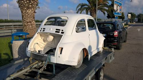 1969 Fiat 500 Custom 695 Abarth Prepared Shell with Option RHD For Sale (picture 4 of 6)