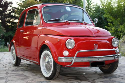 1972 FIAT 500 L (LUSSO) Red  SOLD (picture 1 of 6)