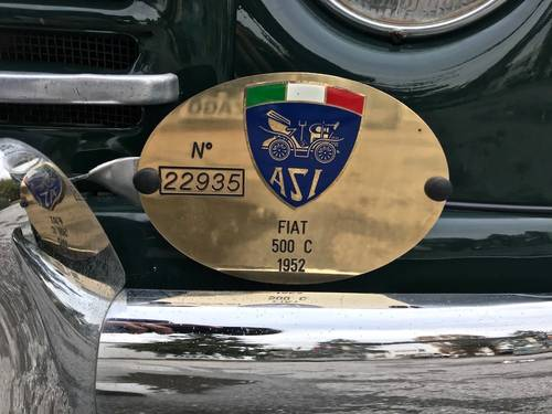 1953  Fiat - 500 C Topolino Trasformabile ASI GOLD CERT. SOLD (picture 6 of 6)