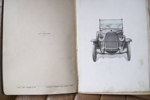 ORIGINAL  1923 FIAT 501 OWNERS MANUAL For Sale (picture 2 of 6)