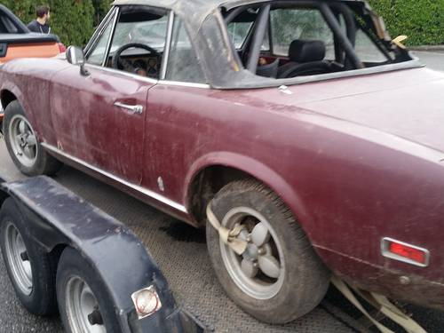 1972 Fiat 124 Spider Project Chrome Bumper For Sale (picture 2 of 3)