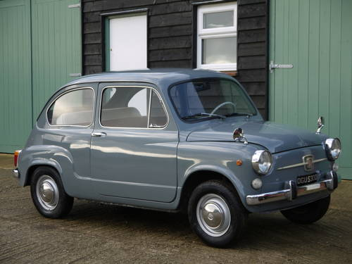 1966 FIAT 600 SALOON LHD EXCELLENT AND VERY ORIGINAL !!  SOLD (picture 1 of 6)