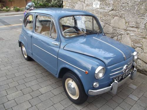 1963 FIAT 600 SALOON (RHD UK low mileage) SOLD (picture 1 of 6)