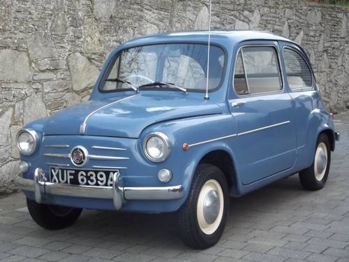 1963 FIAT 600 SALOON (RHD UK low mileage) SOLD (picture 2 of 6)
