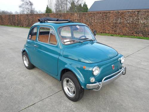 FIAT 500 L MID BLEU 1971 so very nice. just 7500 euro SOLD (picture 1 of 6)
