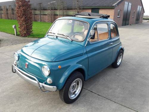 FIAT 500 L MID BLEU 1971 so very nice. just 7500 euro SOLD (picture 2 of 6)