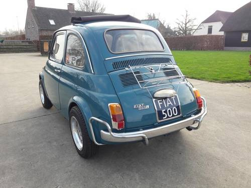 FIAT 500 L MID BLEU 1971 so very nice. just 7500 euro SOLD (picture 3 of 6)