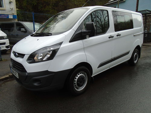 2015 Ford Transit Custom 2.2TDCi ( 125PS ) Double Cab-in-Van For Sale (picture 1 of 6)