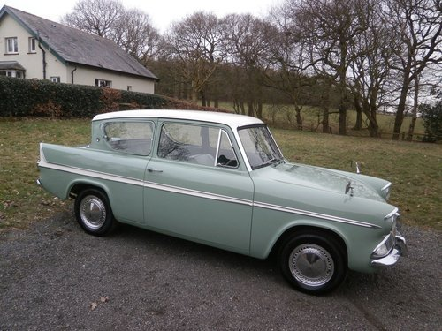 1964 FORD ANGLIA 123E SUPER GREEN/WHITE SIMPLY THE BEST!! SOLD (picture 1 of 6)
