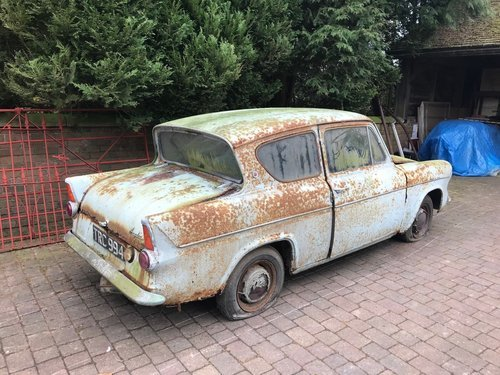 1960 FORD ANGLIA 105E DELUXE * BARN FIND 12,670 MILES!! * SOLD (picture 3 of 6)
