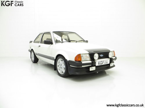 1983 A Diamond White Ford Motorsport Developed Escort RS1600i SOLD (picture 1 of 6)