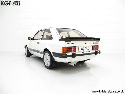 1983 A Diamond White Ford Motorsport Developed Escort RS1600i SOLD (picture 4 of 6)