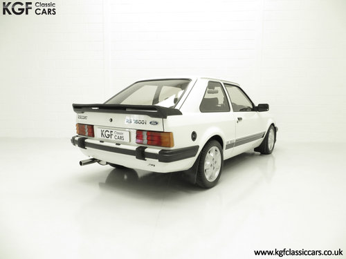 1983 A Diamond White Ford Motorsport Developed Escort RS1600i SOLD (picture 5 of 6)