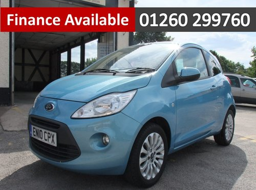 2010 FORD KA 1.2 ZETEC 3DR SOLD (picture 1 of 6)