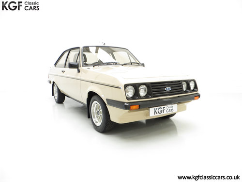 1980 A Superb Very Original Ford Escort Mk2 RS2000, 31,786 Miles SOLD (picture 1 of 6)
