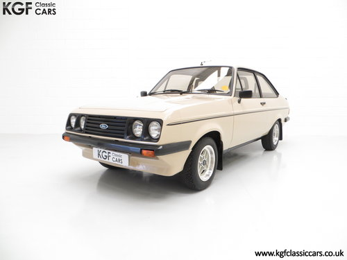 1980 A Superb Very Original Ford Escort Mk2 RS2000, 31,786 Miles SOLD (picture 2 of 6)