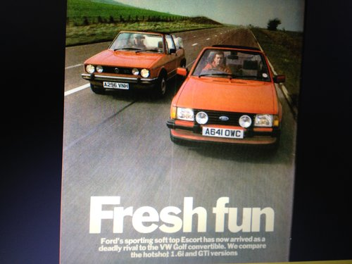 1985 Escort 1.6i Cab Exc history Princess Di style! SOLD (picture 4 of 6)