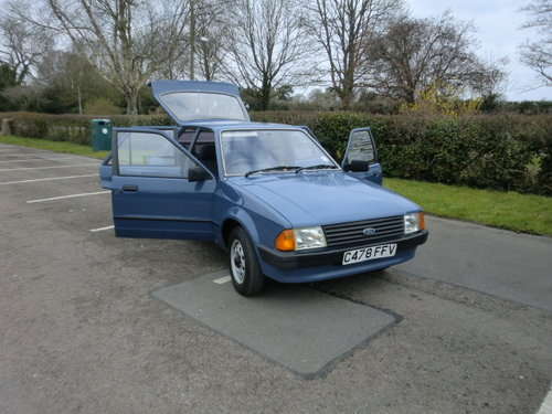 1985 Ford Escort 1.3L 30,000 miles Full Service History For Sale (picture 1 of 6)