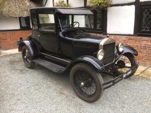 Amazing Barn Find 1927 Ford Model T Doctors Coupe  SOLD (picture 1 of 5)
