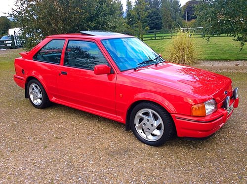 1989 Ford Escort Rs Turbo 1 Owner Full Ford History Superb Sold