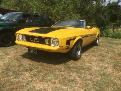 1973 ford mustang convertible 302 auto For Sale (picture 1 of 6)