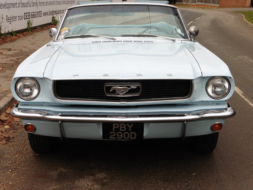 1966 Ford Mustang Conv. 289 V8 Power Hood GT Wheels Disc Brakes  For Sale (picture 1 of 6)