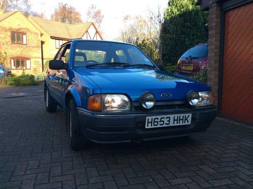 1990 Beautiful Mk4 Ford Escort Bonus 90, Cheshire For Sale (picture 2 of 6)