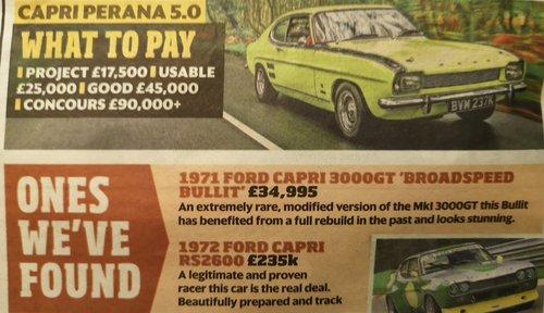 1972 FORD CAPRI PERANA - 5.0 V-8 - ULTRA RARE CAR !!! For Sale (picture 4 of 6)