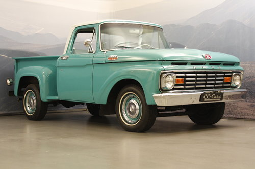 1963 Ford F100 V8 Pick-Up Custom Cap For Sale (picture 1 of 6)