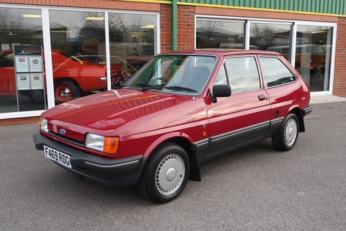 1989 Ford Fiesta Ghia Mk2 1.1 3dr with 7,000 miles only For Sale (picture 1 of 6)
