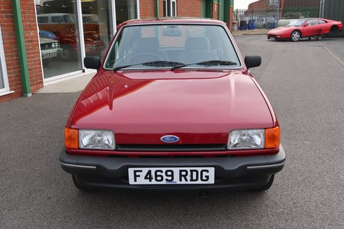 1989 Ford Fiesta Ghia Mk2 1.1 3dr with 7,000 miles only For Sale (picture 4 of 6)