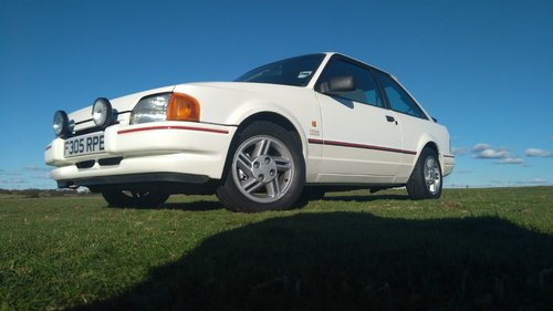 1988 Ford Escort XR3i 1989 MK4 Long MOT White SOLD (picture 2 of 6)