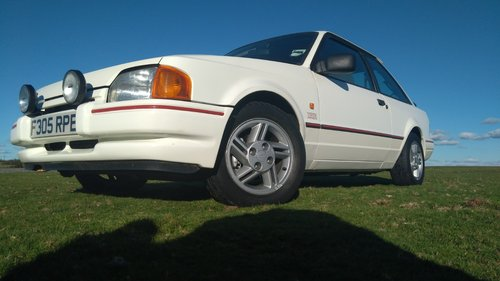 1988 Ford Escort XR3i 1989 MK4 Long MOT White SOLD (picture 4 of 6)