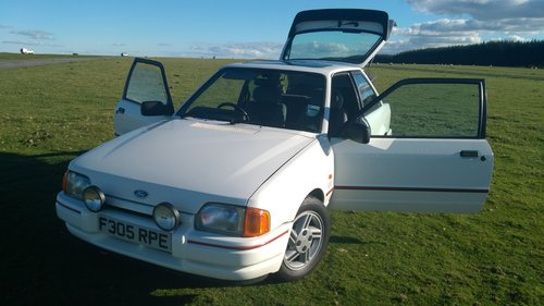 1988 Ford Escort XR3i 1989 MK4 Long MOT White SOLD (picture 6 of 6)