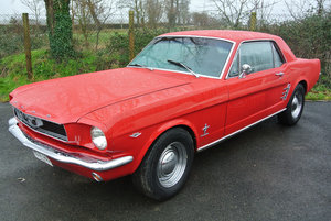 """""""Ruby"""" 1966 Ford Mustang V8 Auto Candy Apple Red SOLD"""