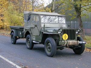 1943 FORD GPW WW2 JEEP - RESTORED - OPTIONAL ORIGINAL WW2 TRAILER For Sale