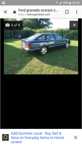 1994 Ford Granada scorpio cosworth