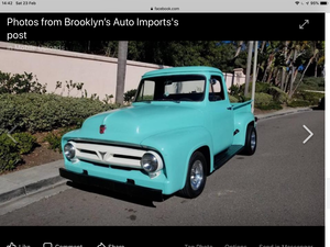1954 Ford f100 short bed truck great example by brookly For Sale