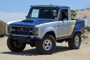 1966 Ford Bronco HalfCab = Elite 1 off over 150k spent $99k
