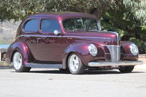 1940 Ford Tudor Sedan = many cool mods  Deap Purple  $75k For Sale