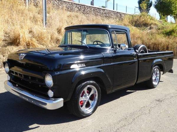 1957 Ford F100 BIG Window = Custom Air-Ride Black $13.9k For Sale (picture 1 of 6)