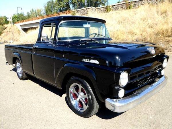 1957 Ford F100 BIG Window = Custom Air-Ride Black $13.9k For Sale (picture 2 of 6)