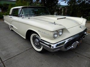 1958 Ford ThunderBird clean Ivory driver 352-V8 auto $19.5k For Sale