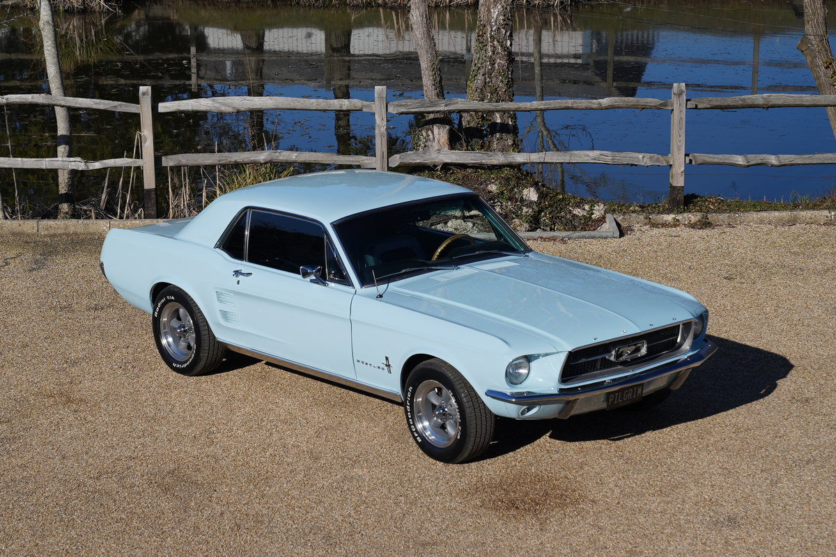1967 Ford Mustang 289 Automatic Coupe Arcadian Blue SOLD (picture 1 of 6)