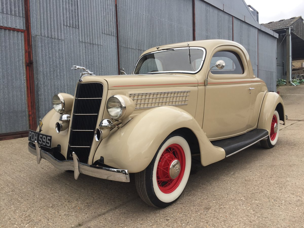 Very Original 1935 Ford Three Window Steel Coupe For Sale (picture 1 of 6)
