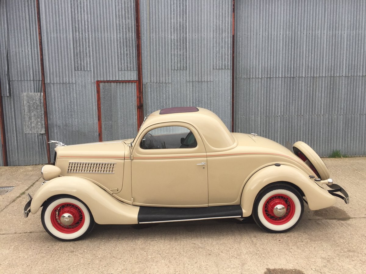 Very Original 1935 Ford Three Window Steel Coupe For Sale (picture 2 of 6)