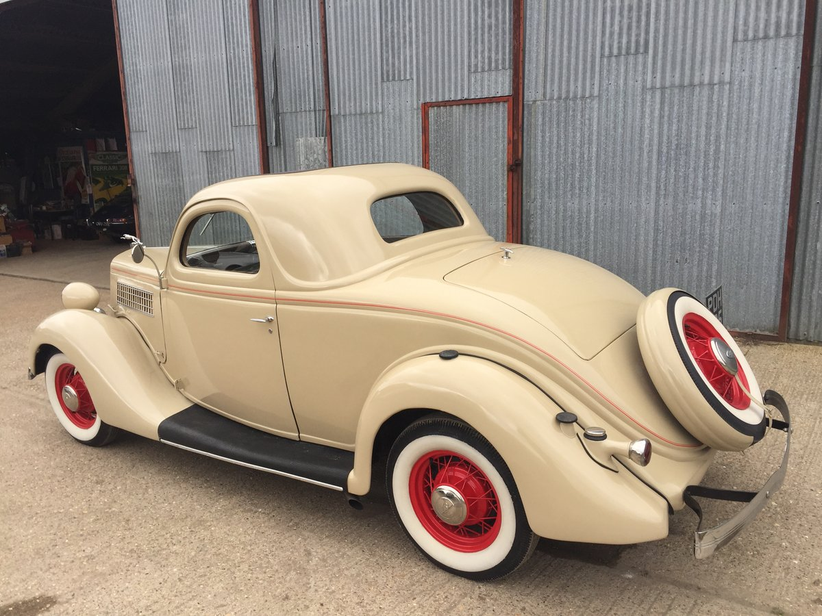 Very Original 1935 Ford Three Window Steel Coupe For Sale (picture 3 of 6)