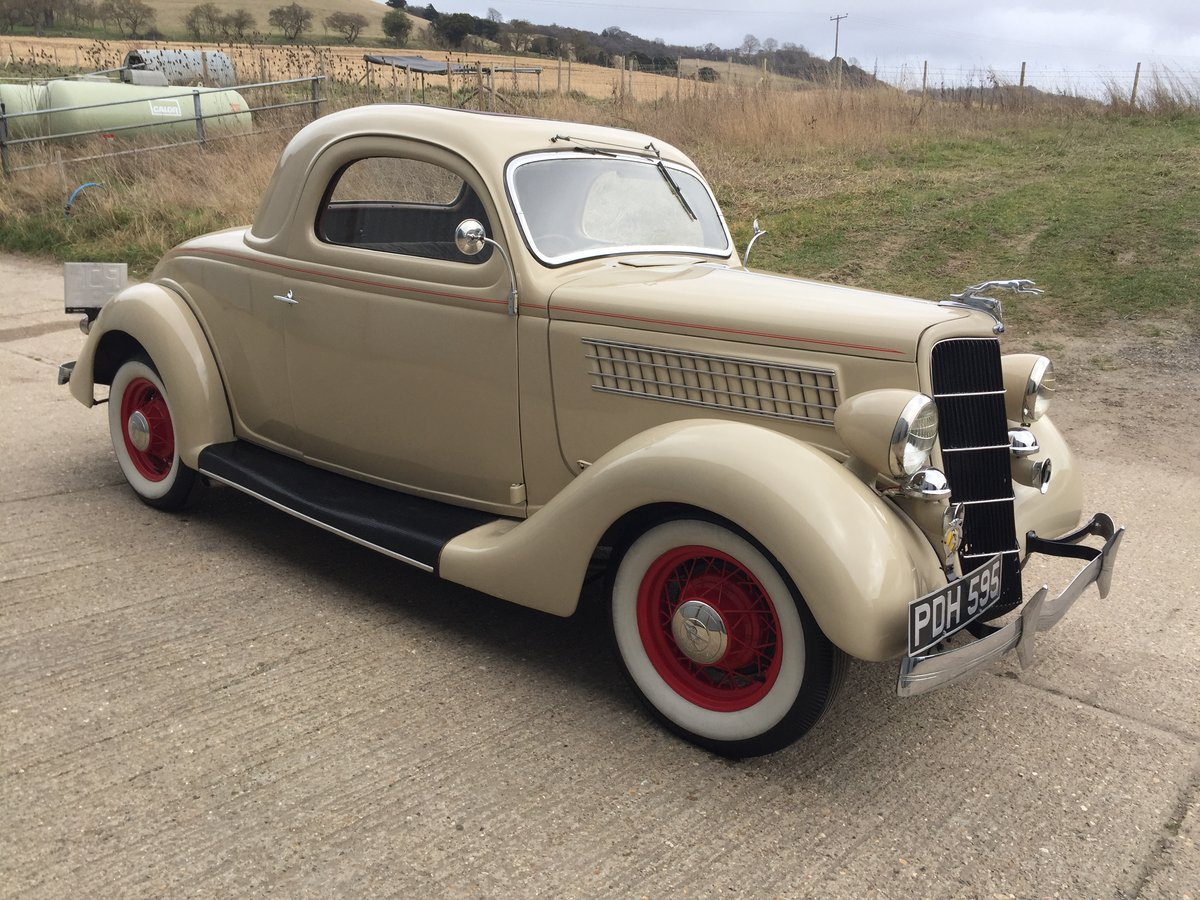 Very Original 1935 Ford Three Window Steel Coupe For Sale (picture 4 of 6)